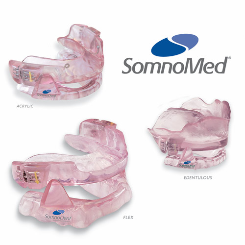 Somnodent device for treating sleep apnoea/snoring